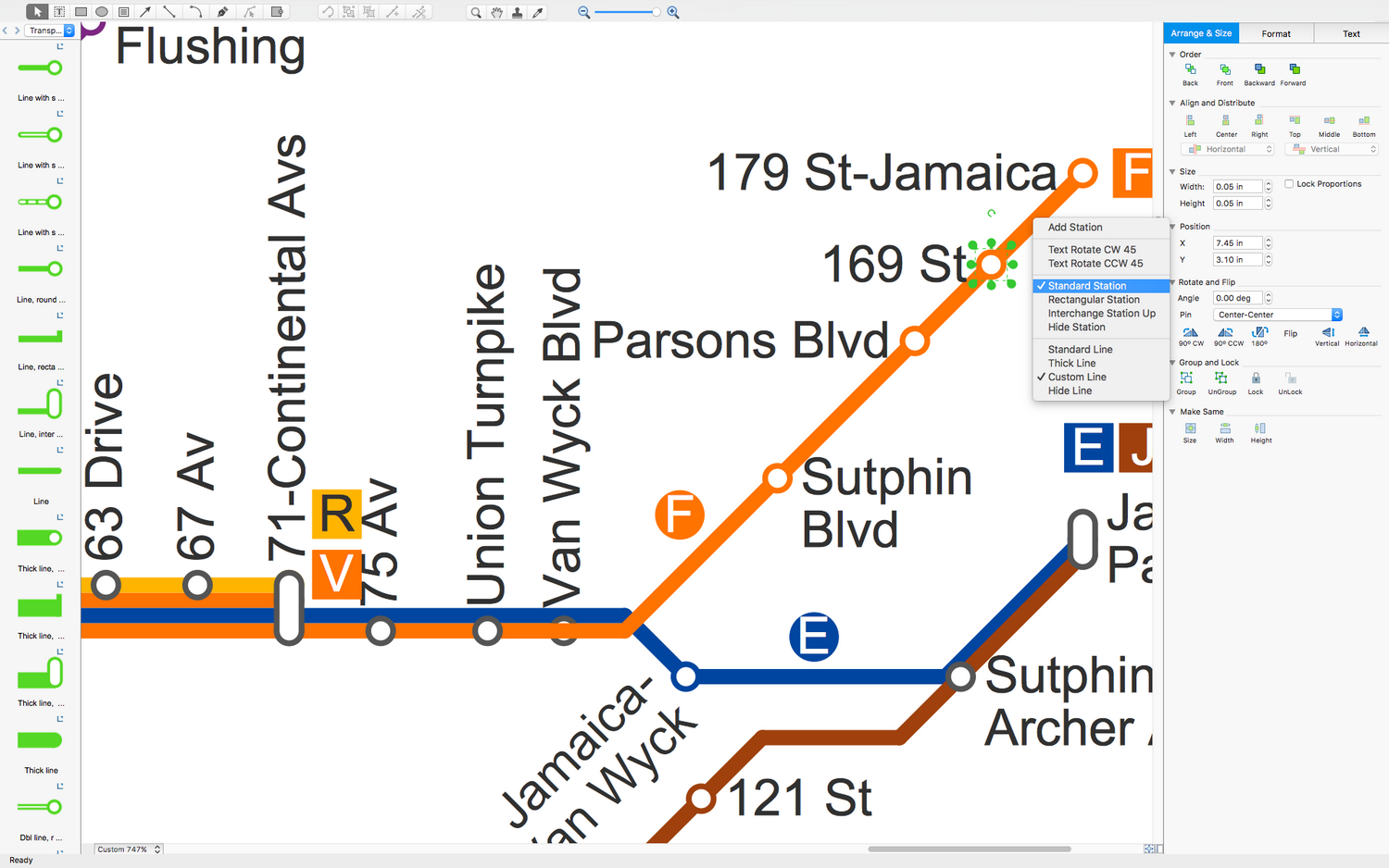 Metro Map Software for macOS X