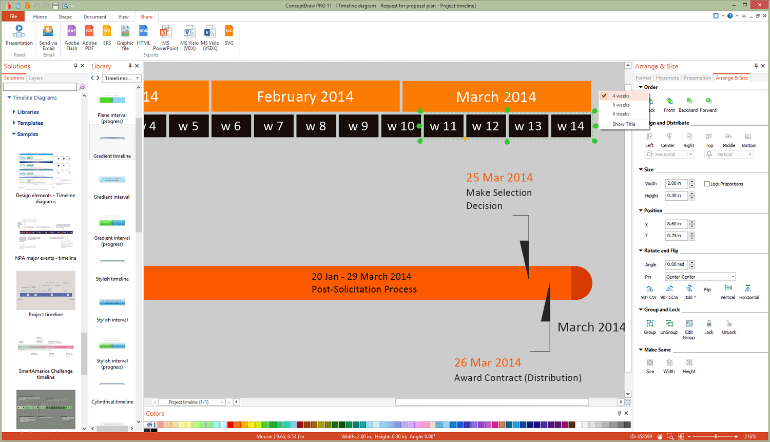 Timeline Diagrams Solution for Microsoft Windows