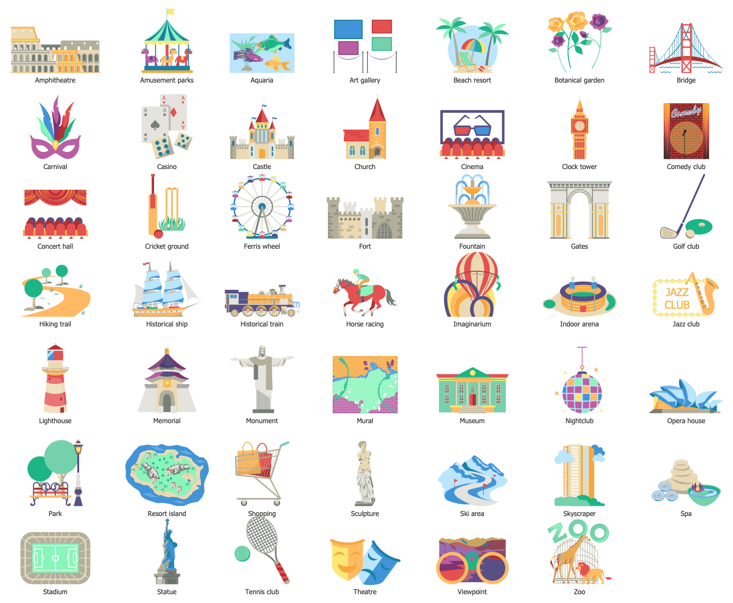 Design Elements — Tourist Attractions