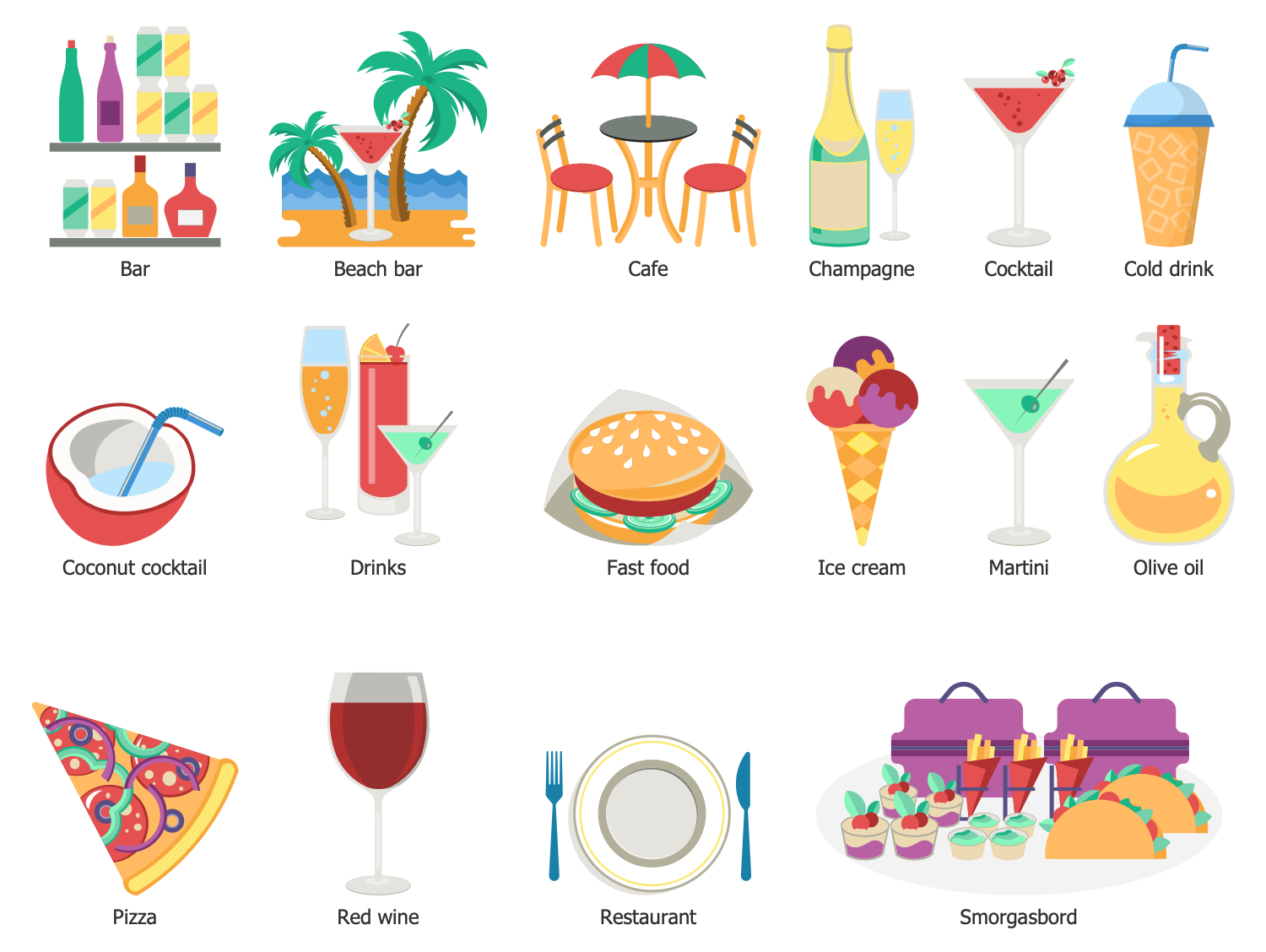 Design Elements — Travel Food