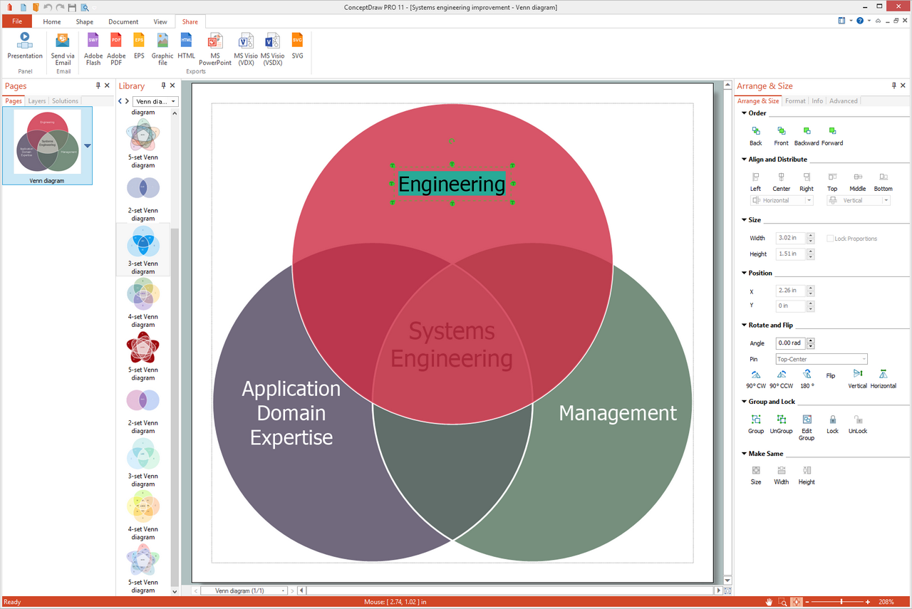 Venn Diagrams Solution for  for Microsoft Windows