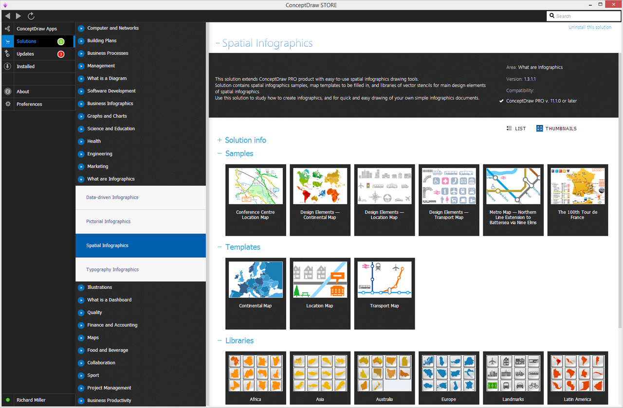 Spatial Infographics solution - Start Using