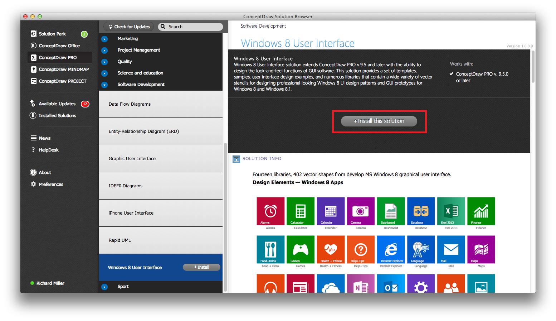 Windows 8 User Interface Solution Install