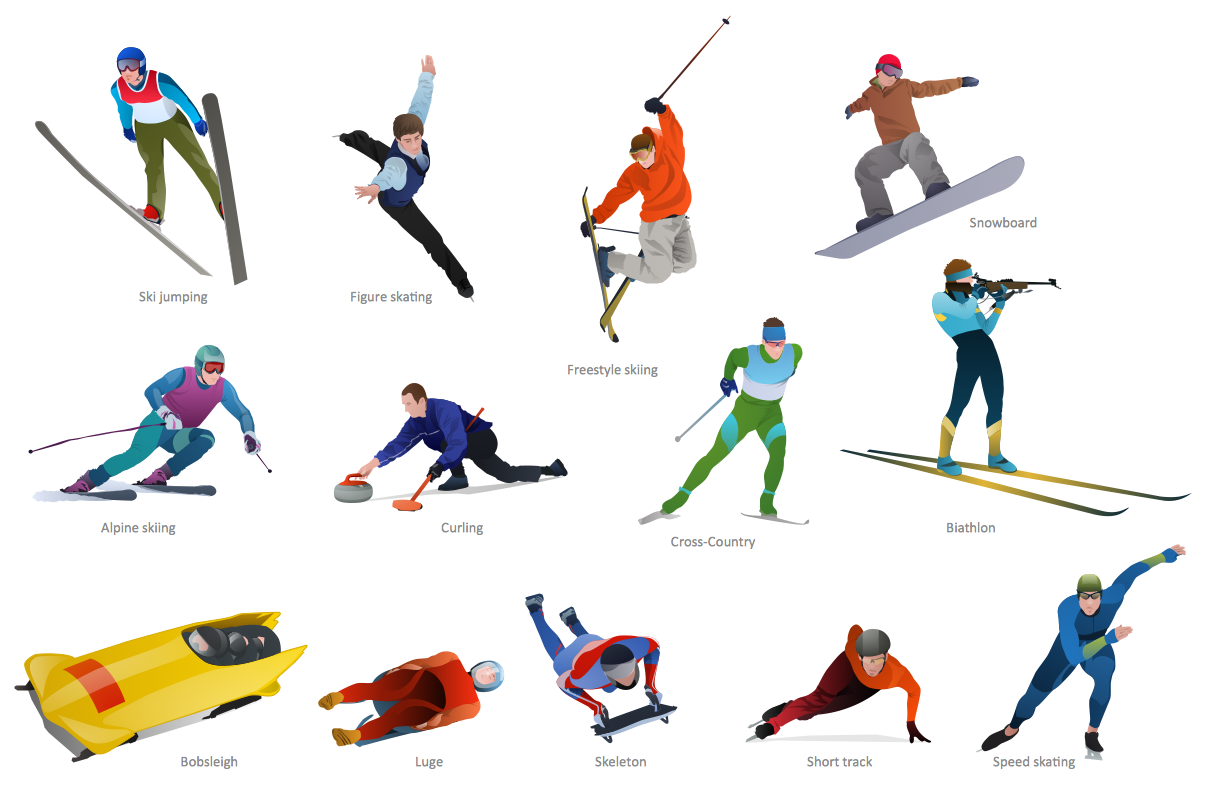 Winter Sports Solution ConceptDraw