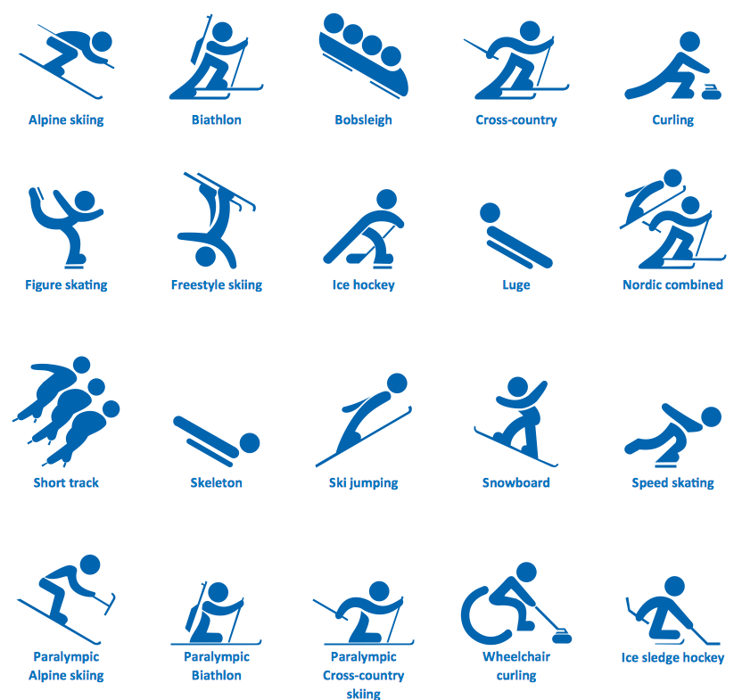 Design Elements — Winter Sports Symbols