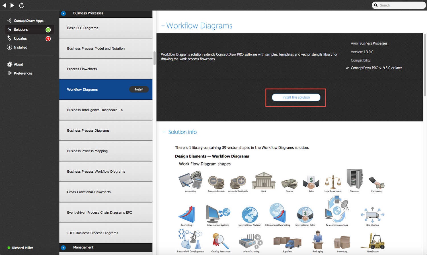 Workflow Diagrams Solution - Install